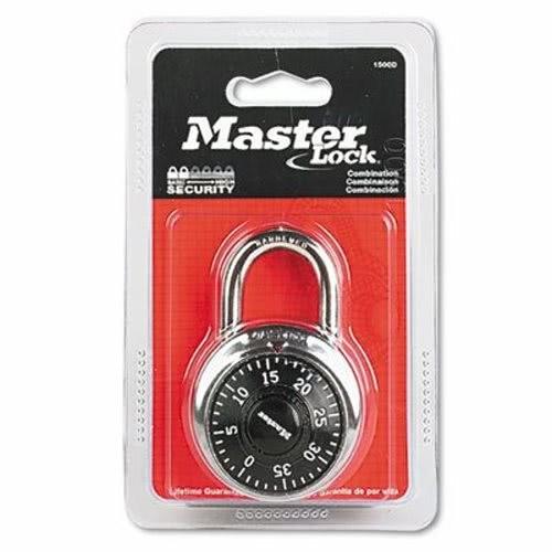 Master Lock Combination Lock, Stainless Steel, 1 7/8