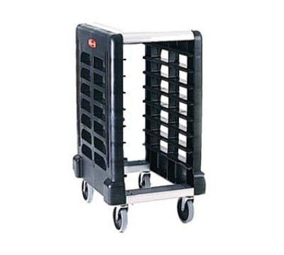 Max Rack Prep Cart W/Cboard, Black, End Load