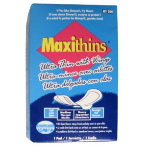 Maxithins Ultra-Thin Pads, Size 4