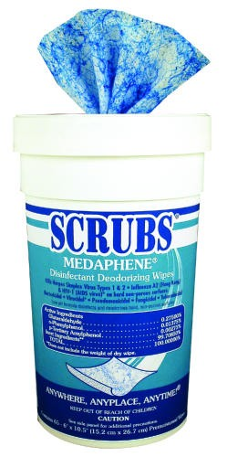 Medaphene Scrubs Disposable Disinfecting Deodorant Wipes