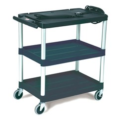MediaMaster 3-Shelf AV Cart, Black