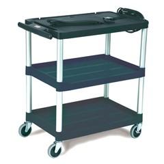 Media Master AV Cart, 3-Shelf, 18-3/4w x 32-3/4d x 33h, Black