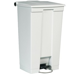 Medical Mobile Step-On Container, 19.8 X 16.1 X 32.5, White