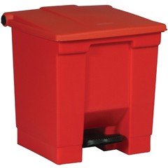 Medical Waste Step-On Container, 16.25 X 15.75 X 17.13, Red