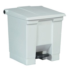 Medical Waste Step-On Container, 16.25 X 15.75 X 17.13, White