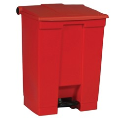 Medical Waste Step-On Container, 19.8 X 16.1 X 26.5, Red