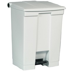 Medical Waste Step-On Container, 19.8 X 16.1 X 26.5, White