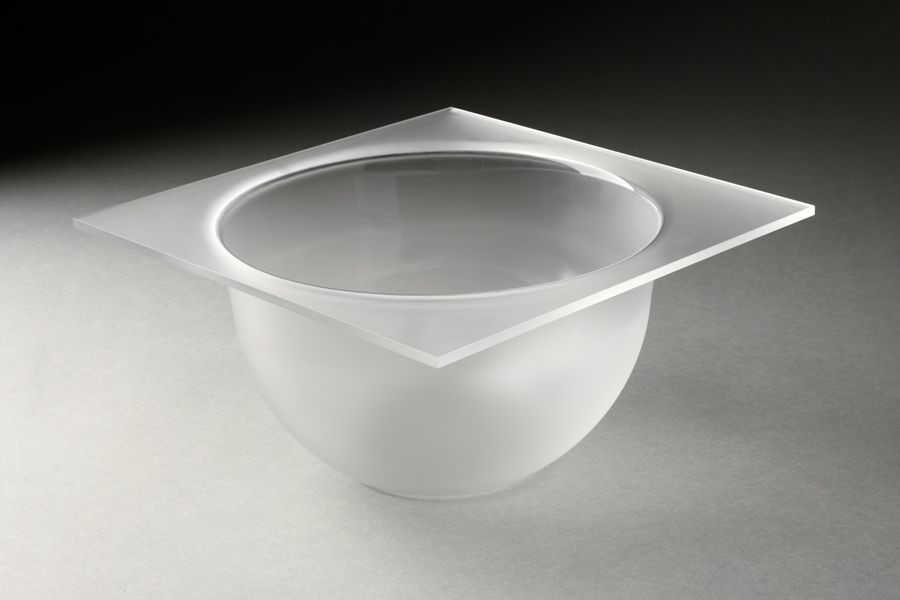 Rosseto MBT1432 3 Qt. Round Frosted Acrylic Bowl Tray for Mod Pod