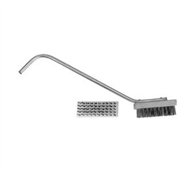 Medium Bristle Broiler/Grill Brush With Handle