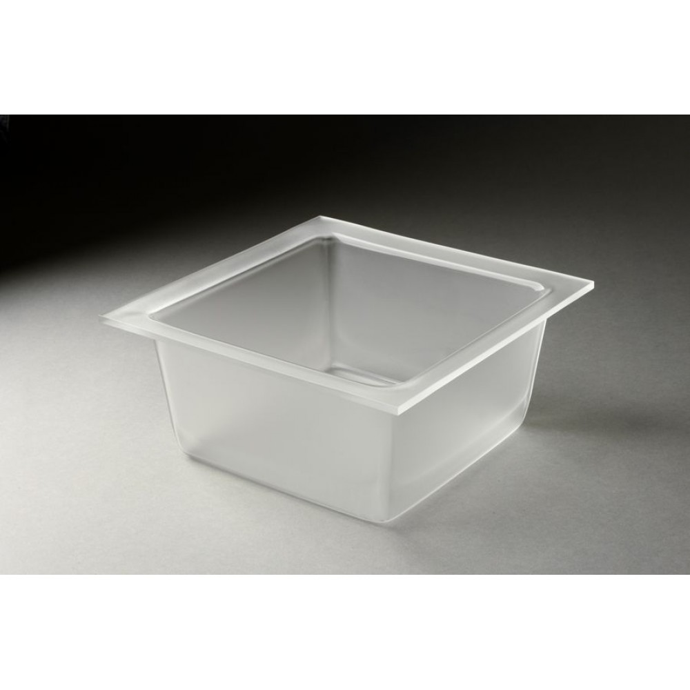 Rosseto MDT1456 4.25 Qt. Frosted Medium Deep Square Tray for Mod Pod