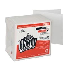 Medium-Duty DRC Wipers, Quarterfold, 12-1/2x13, White, 65/Pack