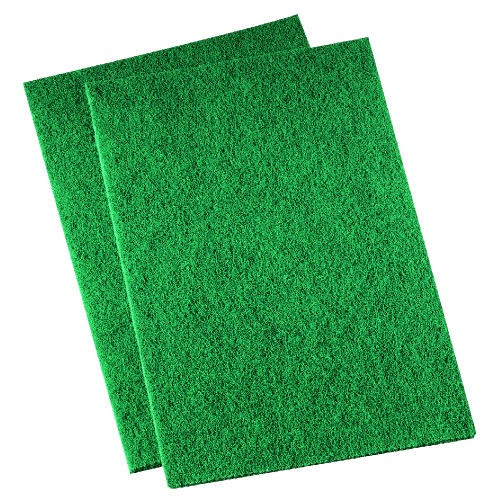 Medium-Duty Scour Pad, 6 X 9, Green