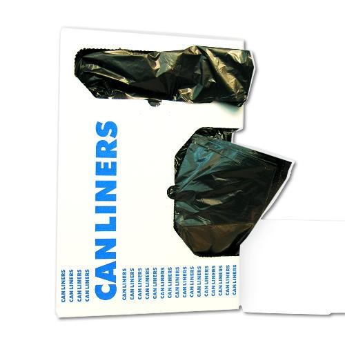 Medium-Grade Can Liners, 40 x 46, 45-Gallon, .50 Mil, Black, 25/Roll
