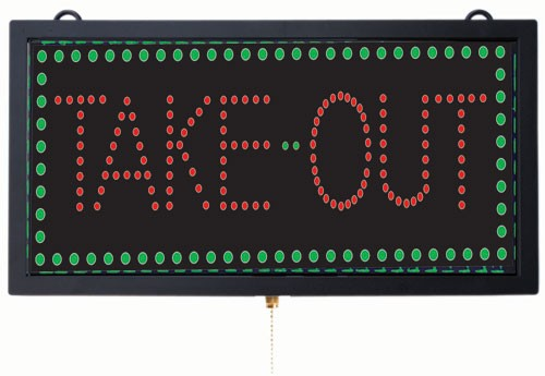 Medium LED Sign Take Out