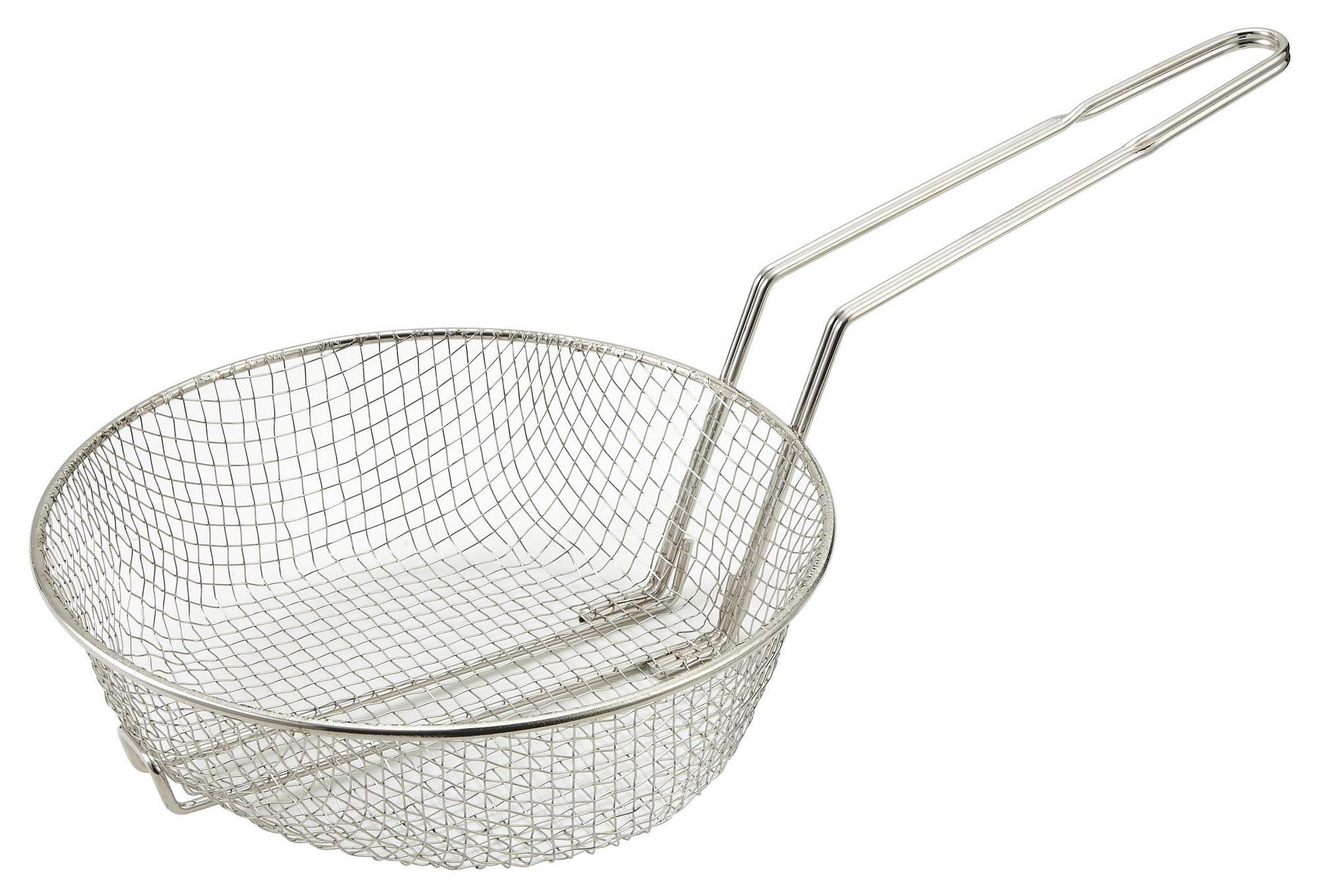 "Winco MSB-08M Medium Mesh Culinary Basket 8"""
