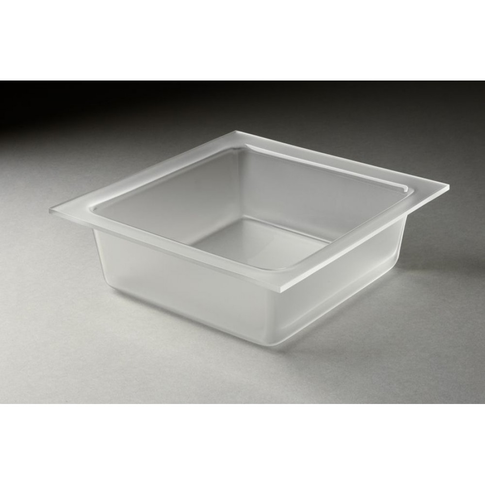 Rosseto MST1449 2 Qt. Medium Frosted Square Tray for Mod Pot