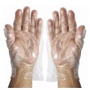 Winco GLP-M DisposableTextured Polyethylene Gloves, Medium