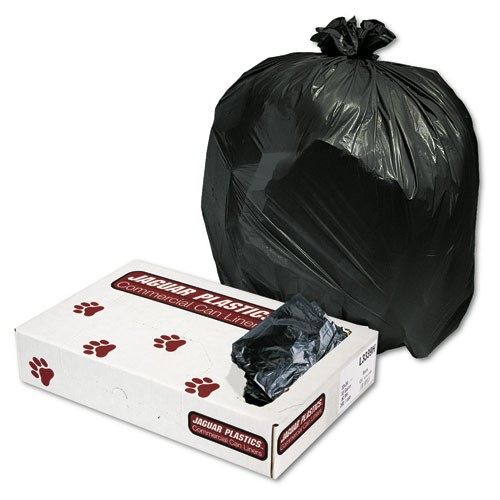 Medium Weight, Low-Density Garbage Can Liner, 33 X 39, .50 Mil, Black