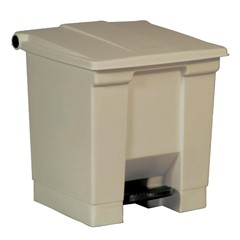 Medocal Waste Step-On Container, 16.25 X 15.75 X 17.13, Beige