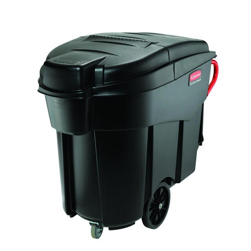 Mega Brute Mobile Waste Container, 120 Gallon, Black