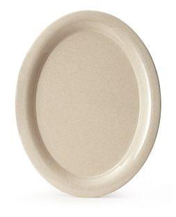 """G.E.T. Enterprises BAM-1135 BambooMel 13-1/2"""" x 10-1/4"""" Oval Platter"""