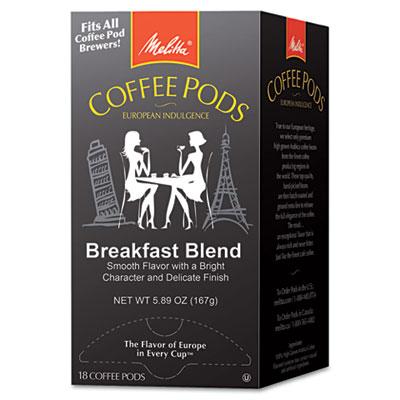 Melitta One:One Coffee Pods, Breakfast Blend, 18 Pods/Box