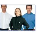 Men's Banded Collar Blue/ Black Short Sleeve Dress Shirt