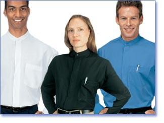 Henry Segal 1211 Men's Banded Collar Blue/Black Short Sleeve Dress Shirt