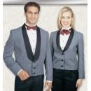 Henry Segal 7304 Men's Heather Grey Eton Jacket with Satin Shawl Lapel