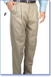 Men's Pleated Front Casual Twill Pants