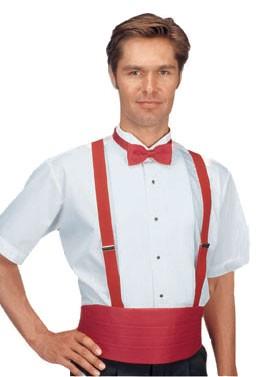 Men's Sleeveless White Tuxedo Shirt - 1/8