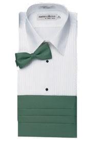 "Henry Segal 8822 Men's Sleeveless Lay-Down Collar 1/4"" Pleat"