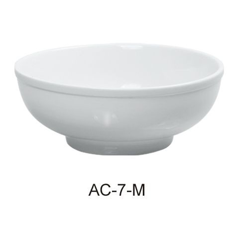 Menudo Bowl 25 Oz - Bright White Wide Rim China