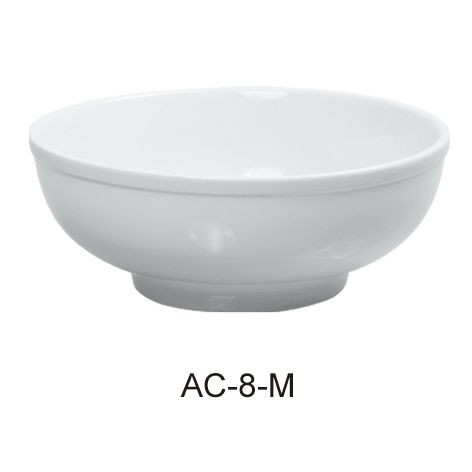 Menudo Bowl 48 Oz - Bright White Wide Rim China
