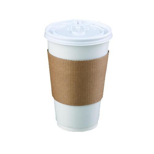 Mercury Floor Machines Coffee Clutch Hot Cup Sleeve, Brown (Box of 1200)