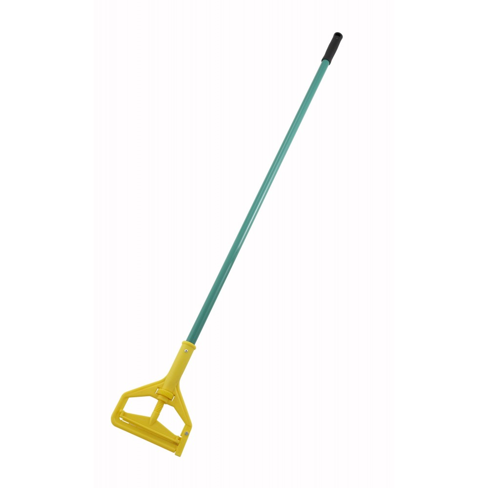 Metal Mop Handle With Plastic Side Release - 60