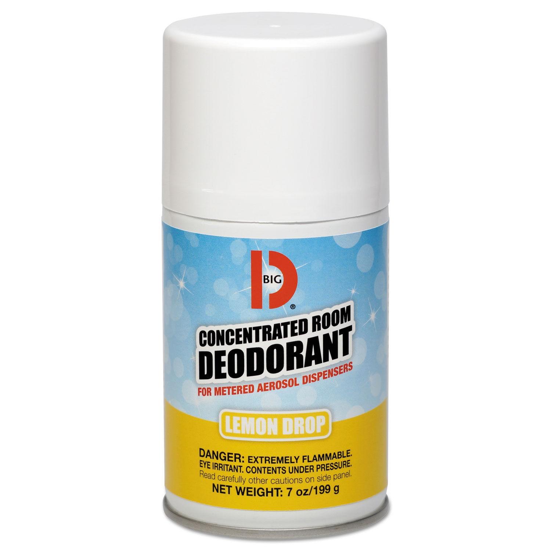 Metered Concentrated Room Deodorant, Lemon Scent, 7 oz Aerosol, 12/Carton