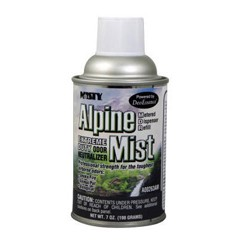 Metered Dry Deodorizer, Alpine Mist, 12 oz Dispenser Refills