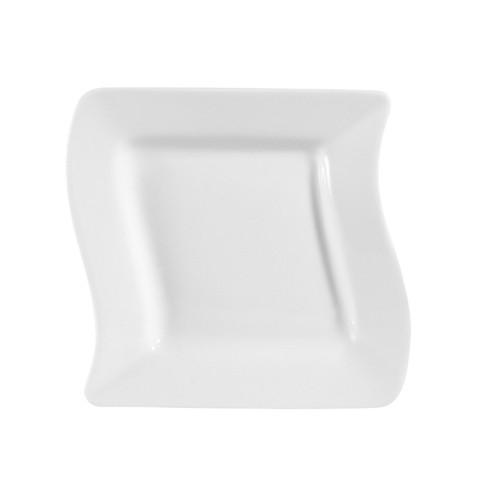 """CAC China MIA-16 Miami Bone White Square Plate 10-1/2"""""""