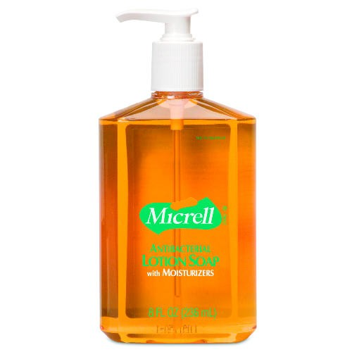 Micrell Antibacterial Lotion Soap, Pump , 8 Oz