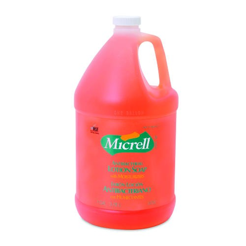 Micrell Antibacterial Lotion Soap, Pour Bottle, 1 Gallon