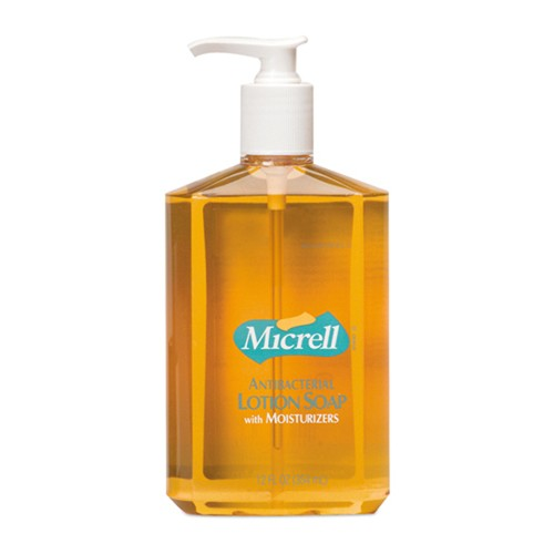 Micrell Antibacterial Lotion Soap, 12 oz., Pump Bottle 12/Carton