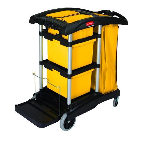 Micro Fiber Janitorial Cart, Black