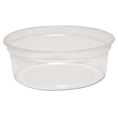 MicroGourmet Food Container, 8 oz, Plastic, Clear, 500/Carton