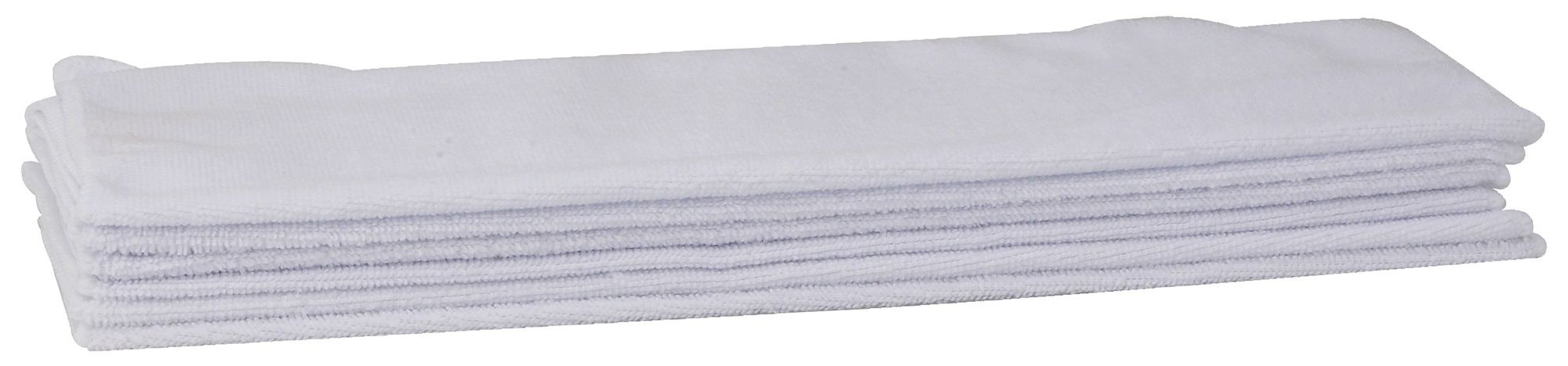 "Winco BTM-16W Microfiber Bar Towel Set, White 16"" x 16"""