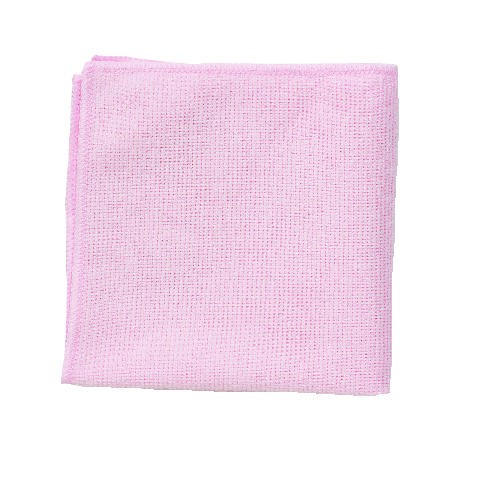 Microfiber Cleaning Cloth, 12 X 12, Red
