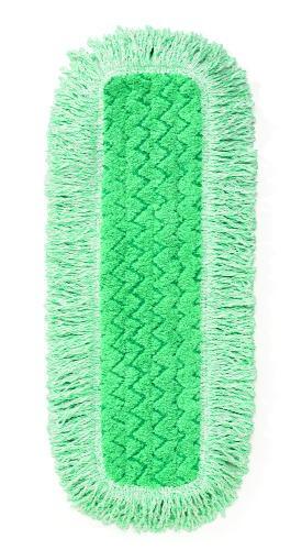 Hygen  Microfiber Fringed Dust Mop Pad, 24w x 9d, Green