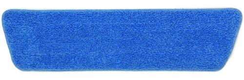 Microfiber Economy Wet Pad, 18 X 5, Blue