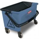 Microfiber Finish Bucket, 27 gal, Blue