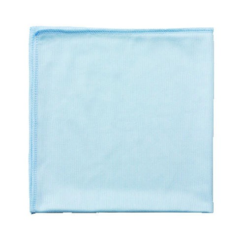 Microfiber Glass & Mirror Cleaning Cloth, 16 X 16, Blue